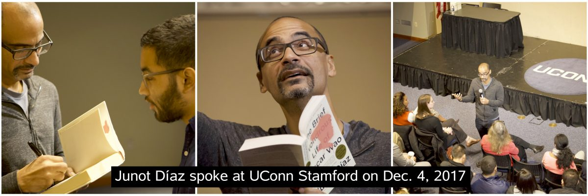 Junot Diaz visited UConn Stamford on Dec. 4, 2017