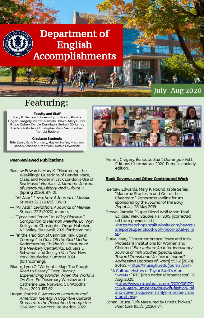 Image Preview of July to August 2020 Department of English Accomplishments