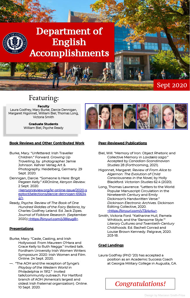 Image Preview of September 2020 Department of English Accomplishments