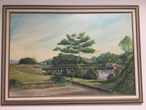 Fairbanks's painting of the Eagleville Dam