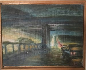 "Fairbanks's painting, ""Night Vision"""